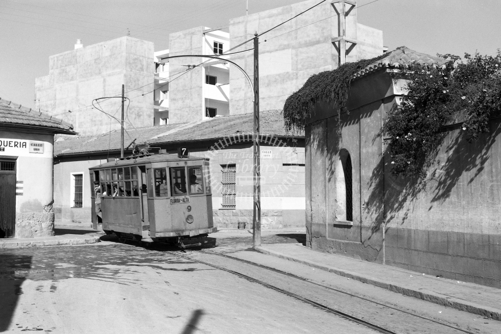 Alicante Transport Tram Strassenbahn 9  at Alicante in 1968 - Sep-68 - David Packer