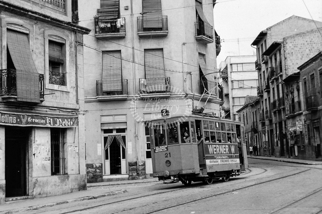 Alicante Transport Tram Strassenbahn 21  at Alicante in 1967 - 27/09/1967 - David Packer