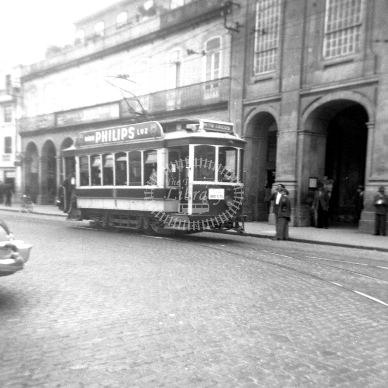Braga Transport Tram Strassenbahn 6  in 1952 at Braga