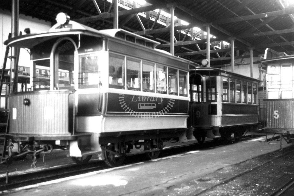 Braga Transport Tram Strassenbahn 10  in 1952 at Braga
