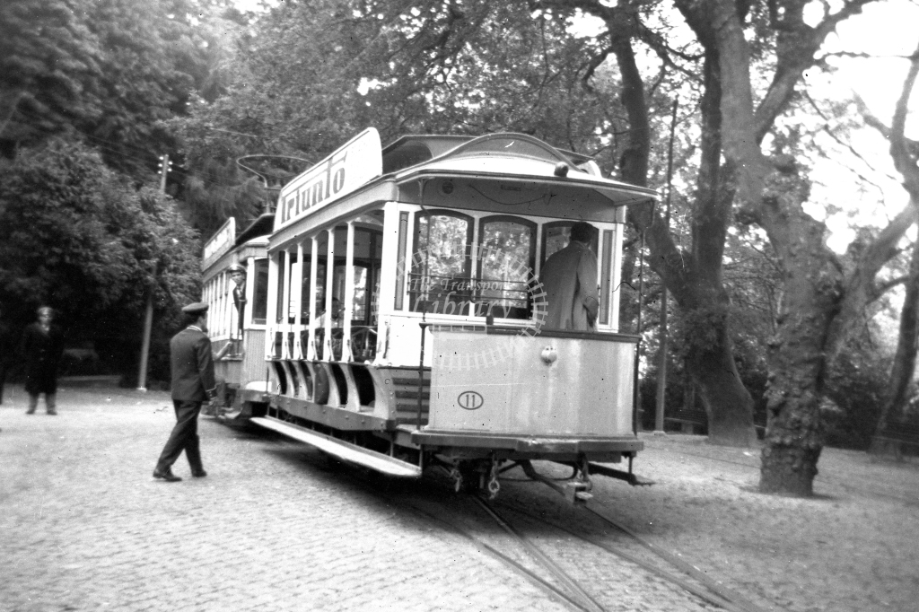 Braga Transport Tram Strassenbahn 11  in 1952 at Braga