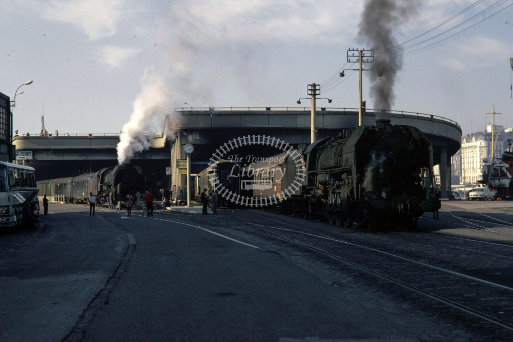 SNCF French Railways Steam Locomotive 141R 638 & 141R 180  at Boulogne  in 1970 - Sep - Barry Mounsey
