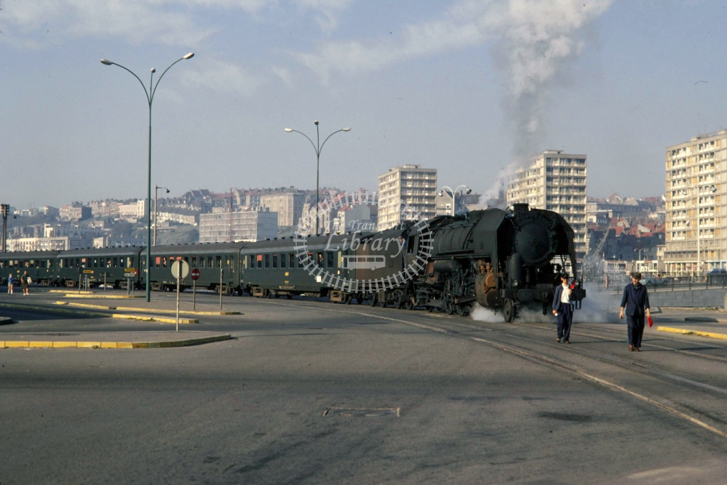 SNCF French Railways Steam Locomotive 141R 638  at Boulogne  in 1970 - Sep - Barry Mounsey