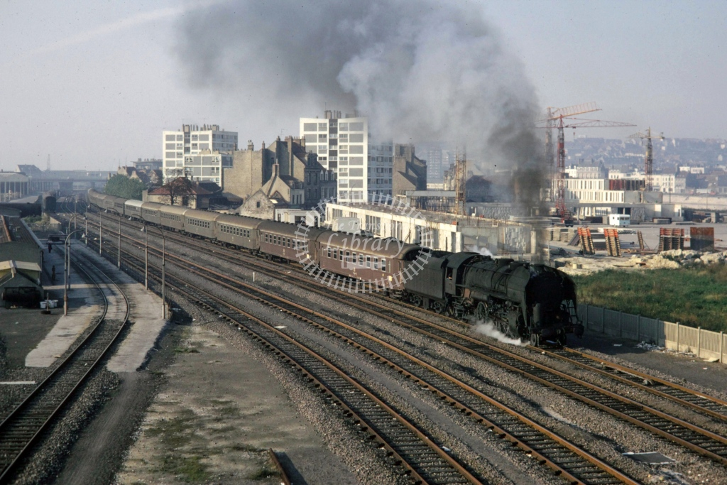 SNCF French Railways Steam Locomotive 141R 180  at Boulogne  in 1970 - Sep - Barry Mounsey