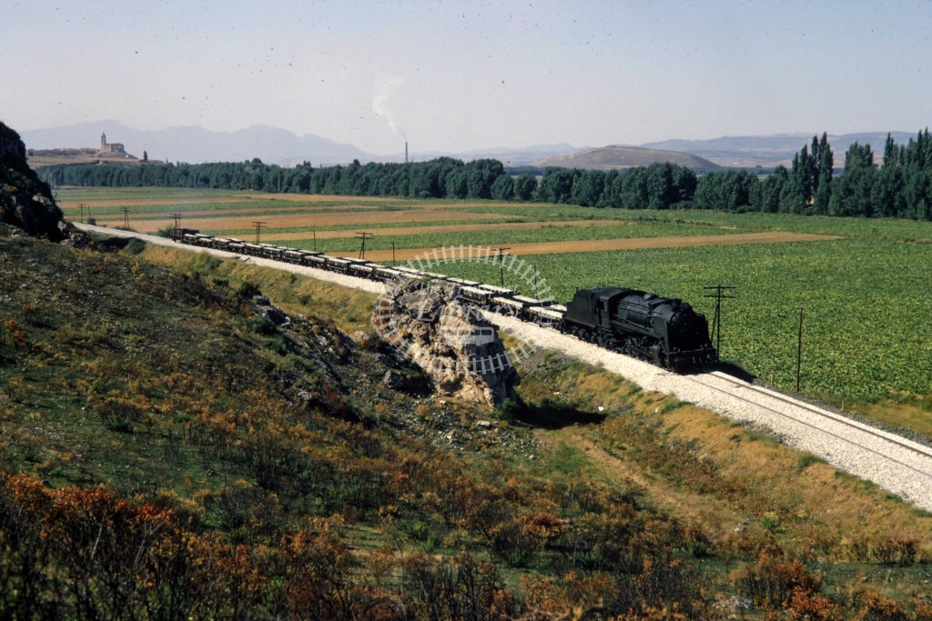 RENFE Spanish Railways Steam Locomotive 141F 2401  at San Felices  in 1970 - Sep - Barry Mounsey