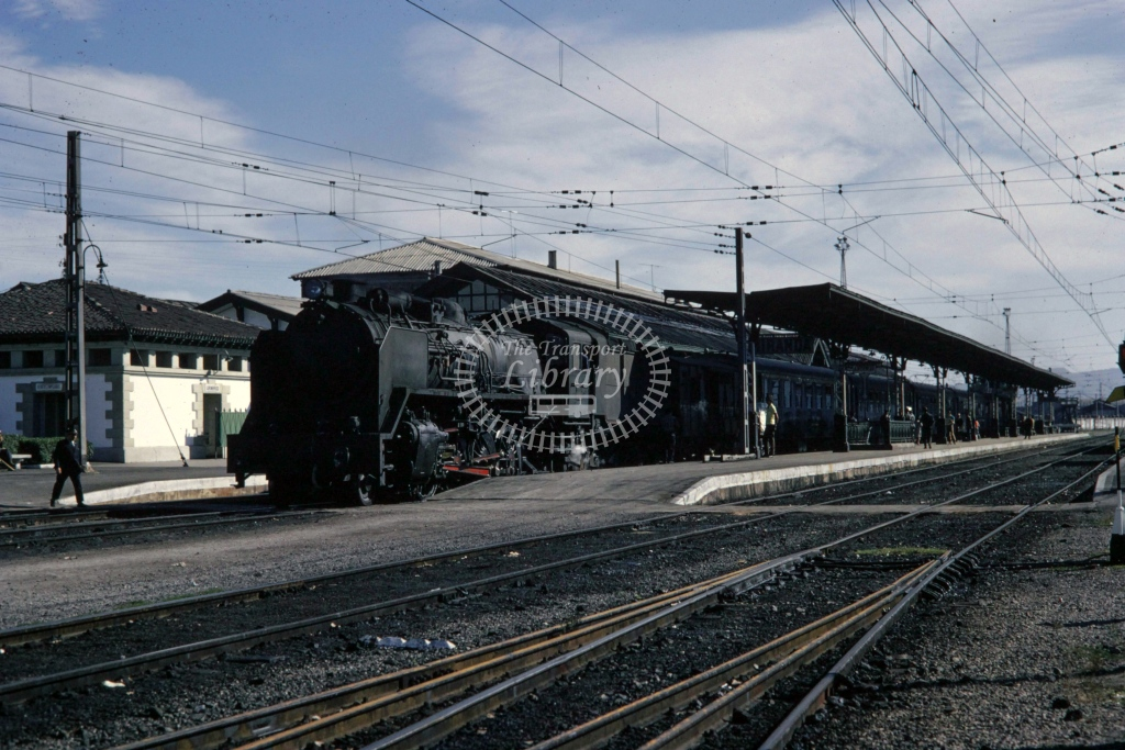 RENFE Spanish Railways Steam Locomotive Class 141F at Miranda del Ebro  in 1970 - Sep - Barry Mounsey