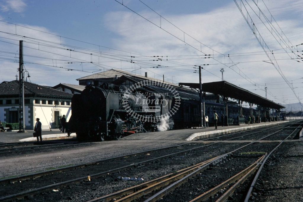 RENFE Spanish Railways Steam Locomotive Class 141F at San Felices  in 1970 - Sep - Barry Mounsey