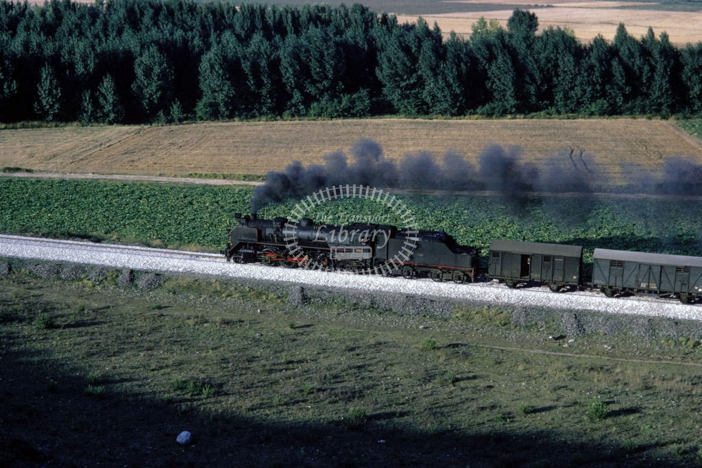 RENFE Spanish Railways Steam Locomotive 141F 0268  at San Felices  in 1970 - Sep - Barry Mounsey