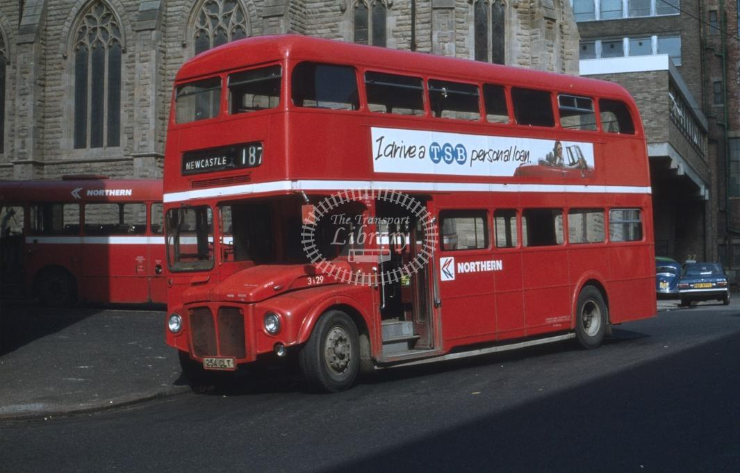 Northern General AEC AEC Routemaster 3129 254CLT at Newcastle in 1979 on route 187 - 28972 - Cliff Essex Collection