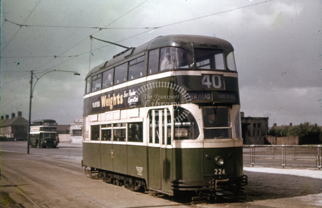 224 Liverpool 4 wheelTram at Page Moss1 4091957  Cliff Essex