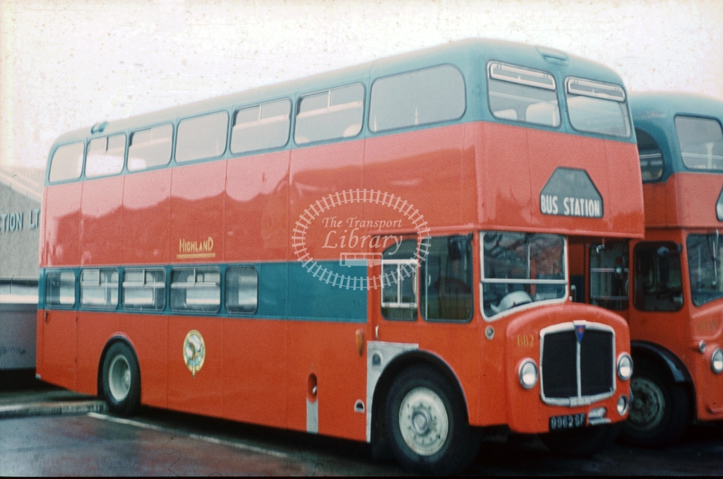 9962SF Highland Omnibuses BB2 AEC Bridgmaster Park Royal Ex Eastern SOL October 1975  Cliff Essex