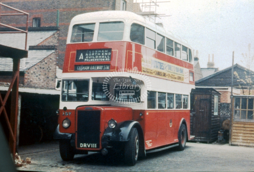 DRV111 Portsmouth 197 Leyland PD1A Weymann March 1962  Cliff Essex