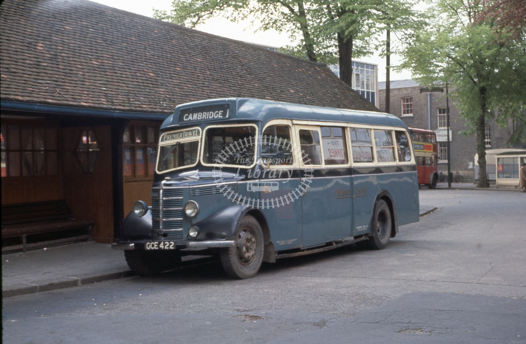 GCE422 Premier Travel 38 Bedford OB Mulliner B31F Cambridge June 1962  Cliff Essex
