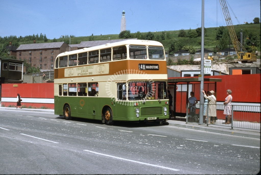 KKM101P Maidstone & District 5101 Bristol VRT ECW June 1980  Cliff Essex