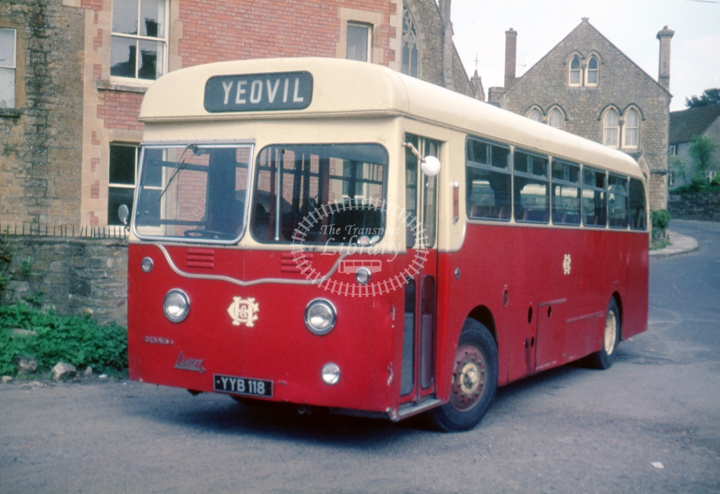 YYB118 H&C Sth Petherton Dennis Lancet UF Harrington May 1967  Cliff Essex