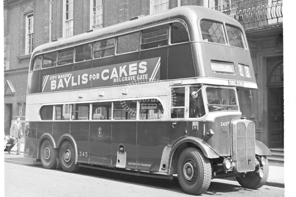 Leicester City Transport double deck bus 345 DBC236 an AEC Renown - H Cartwright - CW10220