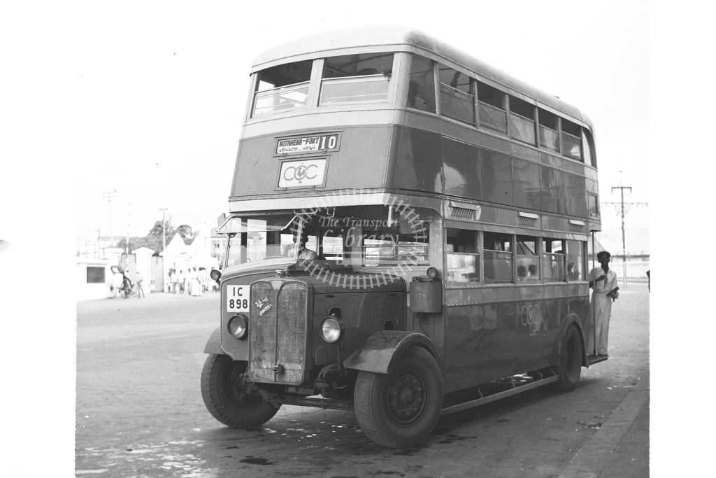 AEC double deck buse registration IC898 - H Cartwright - CW10230