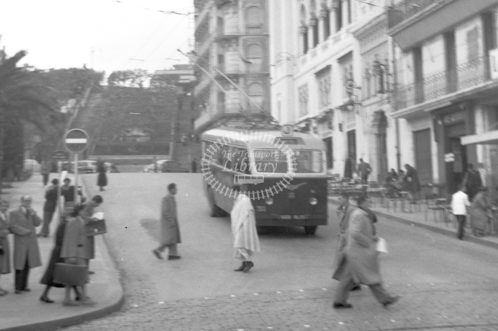 Single deck trolley bus. No location or identity - H Cartwright - CW10242