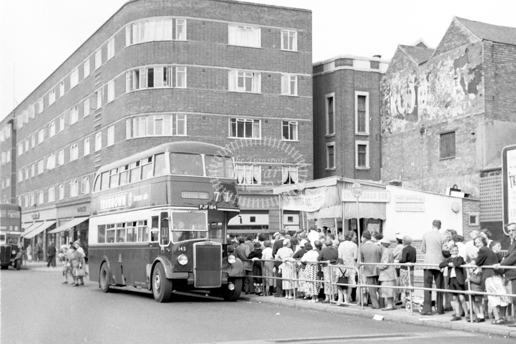 Leicester City Transport double deck bus 145 No.184 Leyland PD2 with Leyland body - H Cartwright - CW10367