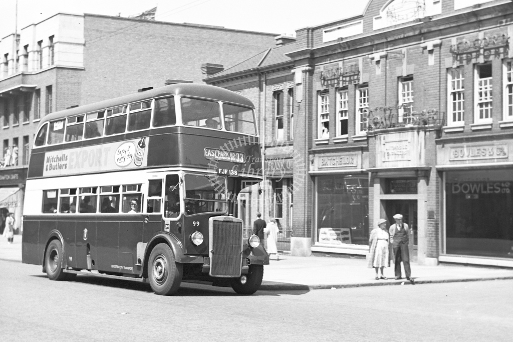 Leicester City Transport Leyland PD2 No.99. Registration FJF138 - H Cartwright - CW10791