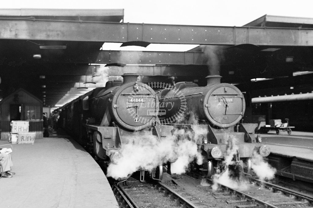 Ex LMS 5 4-6-0s Nos.44844 and 45399 at Birmingham New Street - H Cartwright - CW11534