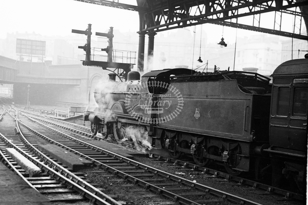 Ex LMS 4P 4-4-0 Compound No.40930 awaits the road with a train at Birmingham New Street - H Cartwright - CW11539