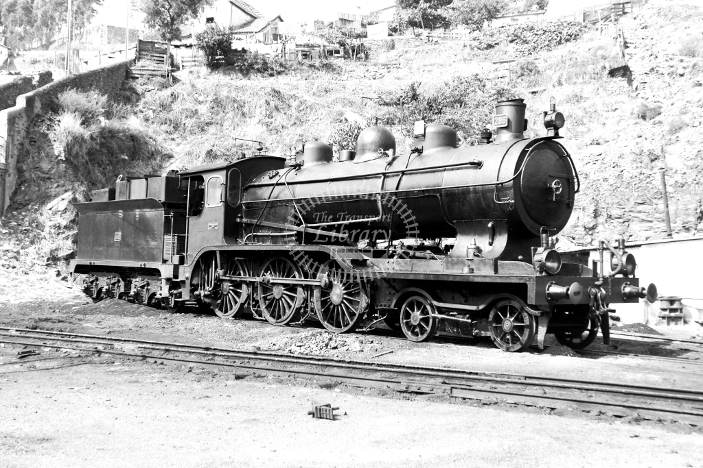 CP Portugal Railways Steam Locomotive 286  at Regua  in 1972 - 09/09/1972 - David Anderson