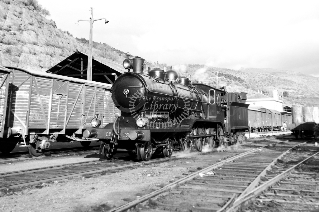CP Portugal Railways Steam Locomotive 281  at Tua  in 1972 - 09/09/1972 - David Anderson