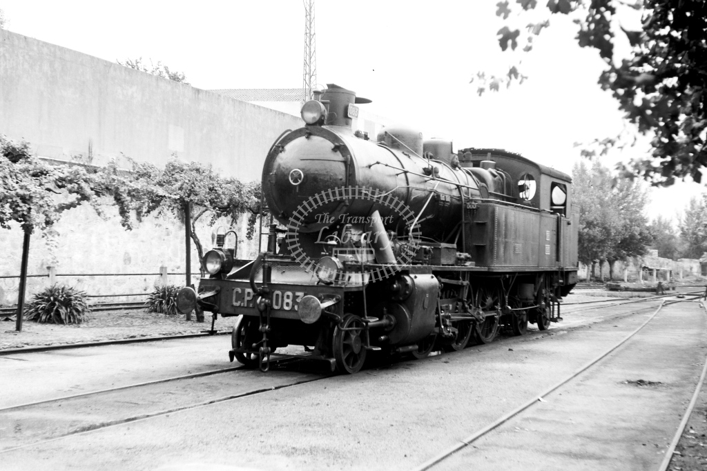 CP Portugal Railways Steam Locomotive 083  at Braga  in 1972 - 04/09/1972 - David Anderson