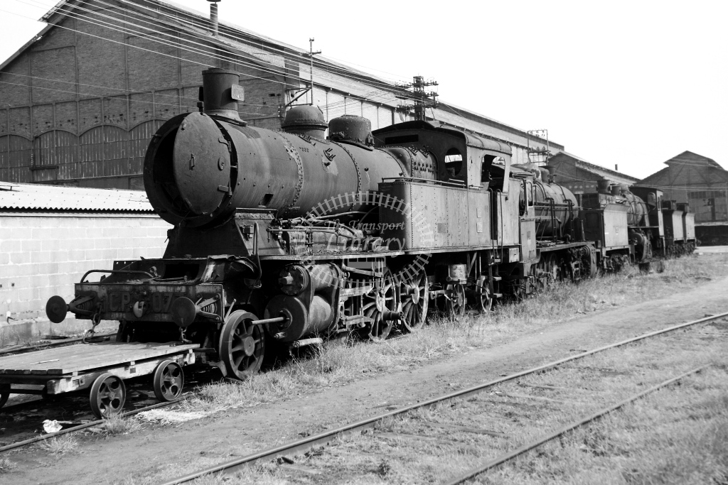 CP Portugal Railways Steam Locomotive 073  at Entroncamento  in 1972 - 02/09/1972 - David Anderson