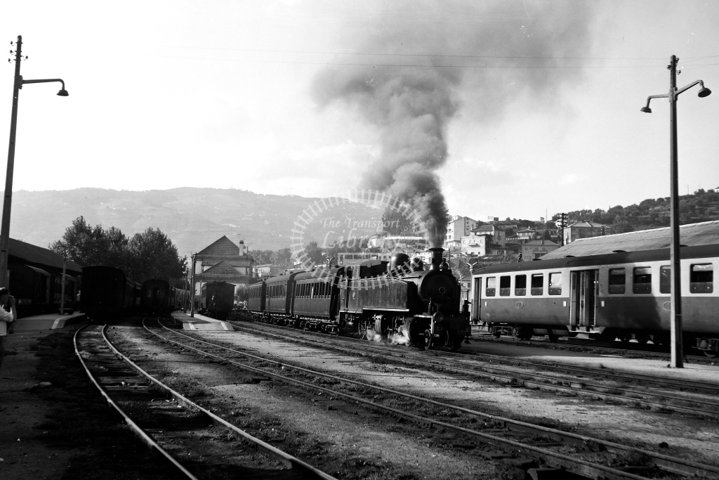 CP Portugal Railways Steam Locomotive E208  at Regua  in 1972 - 09/09/1972 - David Anderson