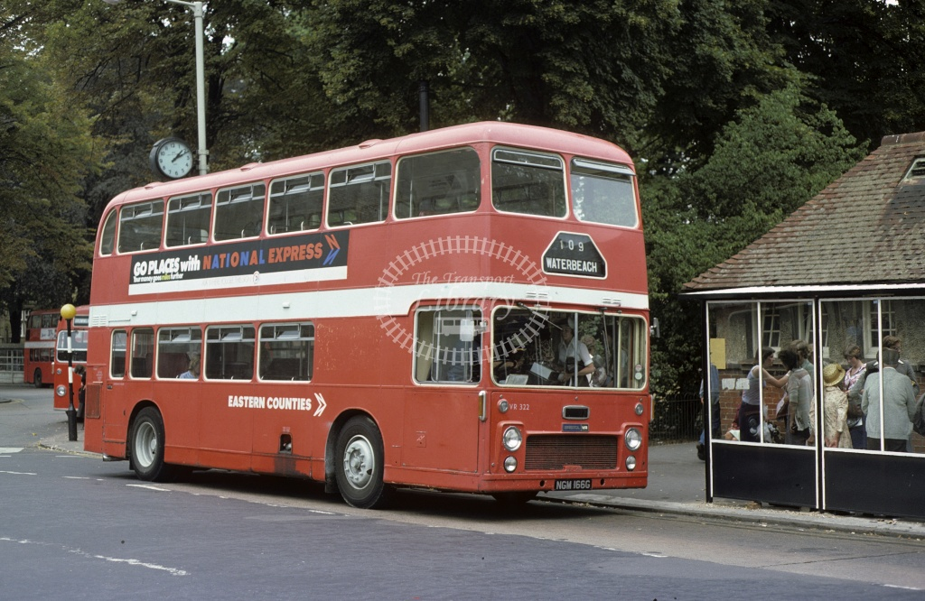 Eastern Counties Bristol VRT VR322 NGM166G in 1976 - Aug-76 - Geoffrey Morant