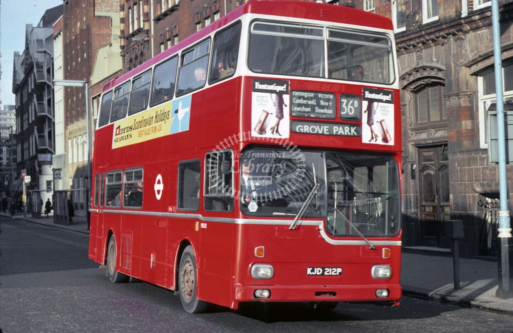London Transport Scania BR111 MD 12 KJD212P  at Victoria, 36B  in 19 - Geoffrey Morant