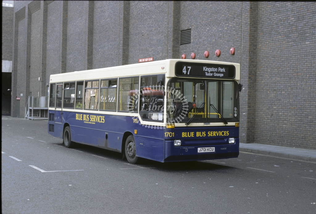 Busways Dennis Dart 1701 J701KCU  in 1993 -  May-93  - Geoffrey Morant