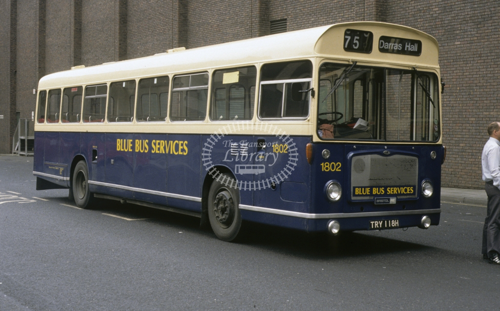 Busways Bristol RELL 1802 TRY118H  in 1993 -  Apr-93  - Geoffrey Morant
