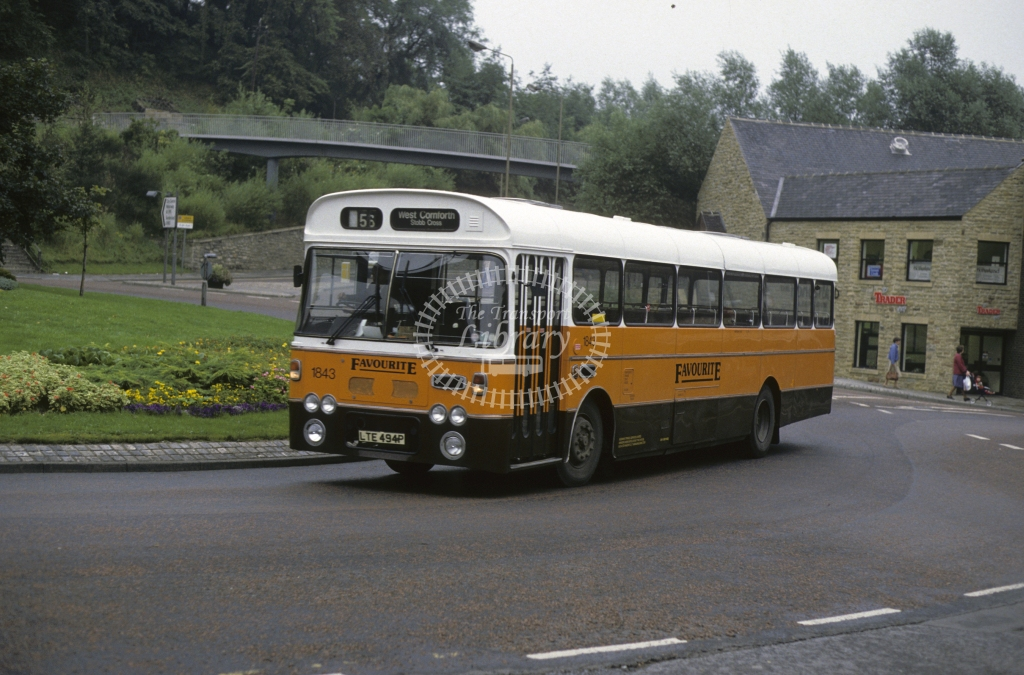 Busways Leyland PSU3 1843 LTE494P  in 1987 -  Sep-87  - Geoffrey Morant