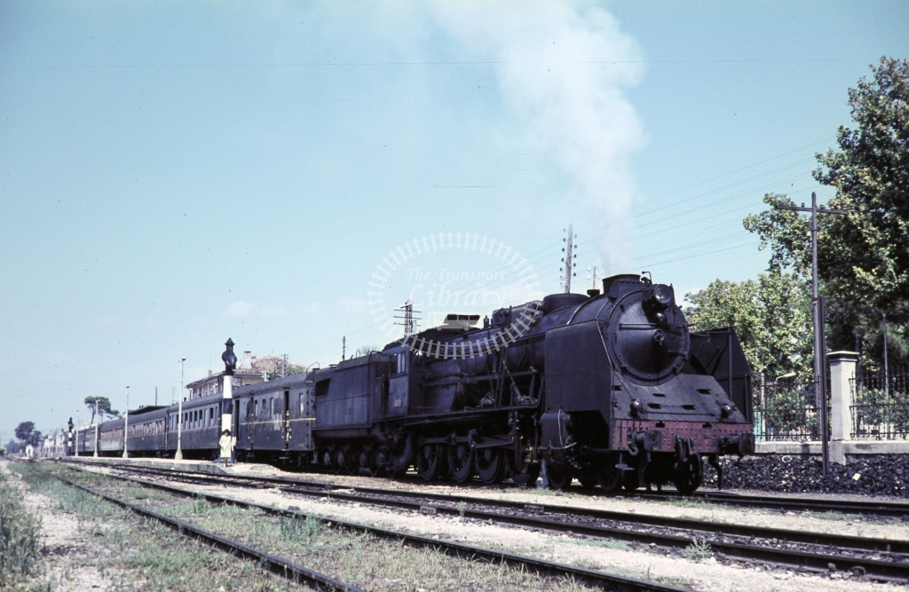 RENFE Spanish Railways Steam Locomotive 240F2660  at Villena in 1966 - 15/09/1966 - Henry Finch