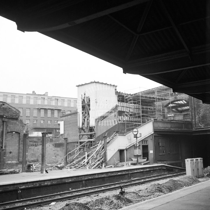 British Rail Station View  at Leicester London Road  in 1985 - Continuing alterations -  11/05/1985 - Horace Gamble