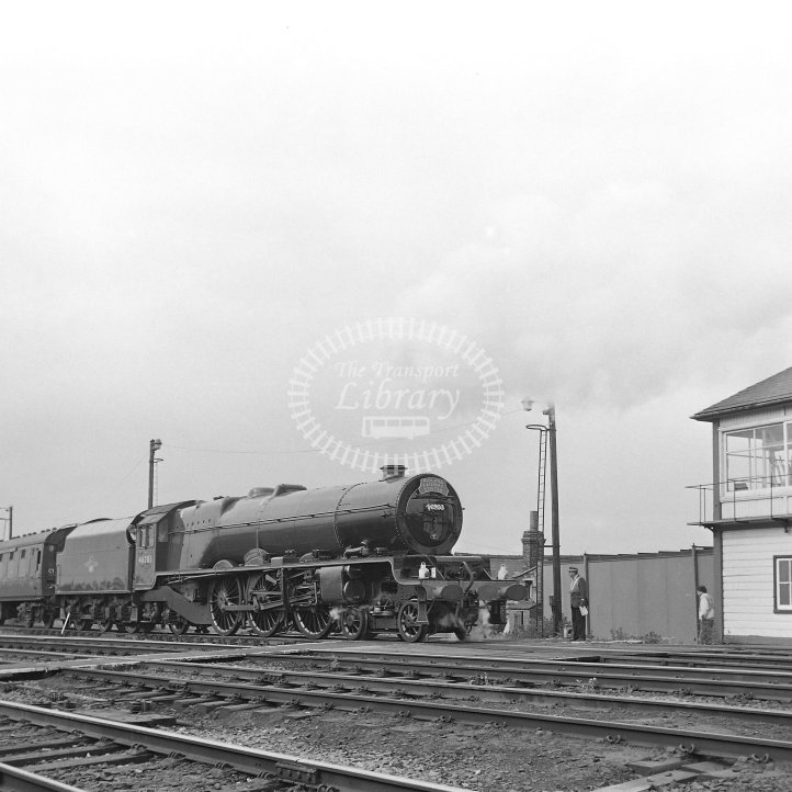 British Rail Steam Locomotive 46203  Class Stanier 'Princess' Class 8P 4-6-2  at Coalville TMD (Mantle Lane)  in 1990 - 10th Annual BR 'Open Day' - preserved steam -  03/06/1990 - Horace Gamble