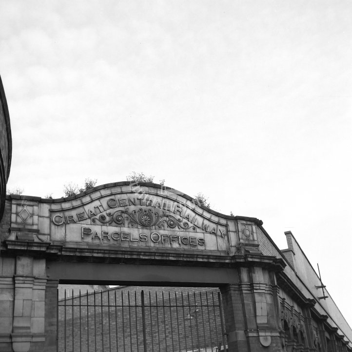 British Rail Station View  at Leicester Central 1899-1969. Surviving GCR arch  in 1981 - 3'-6'' electric railway -  23/08/1981 - Horace Gamble