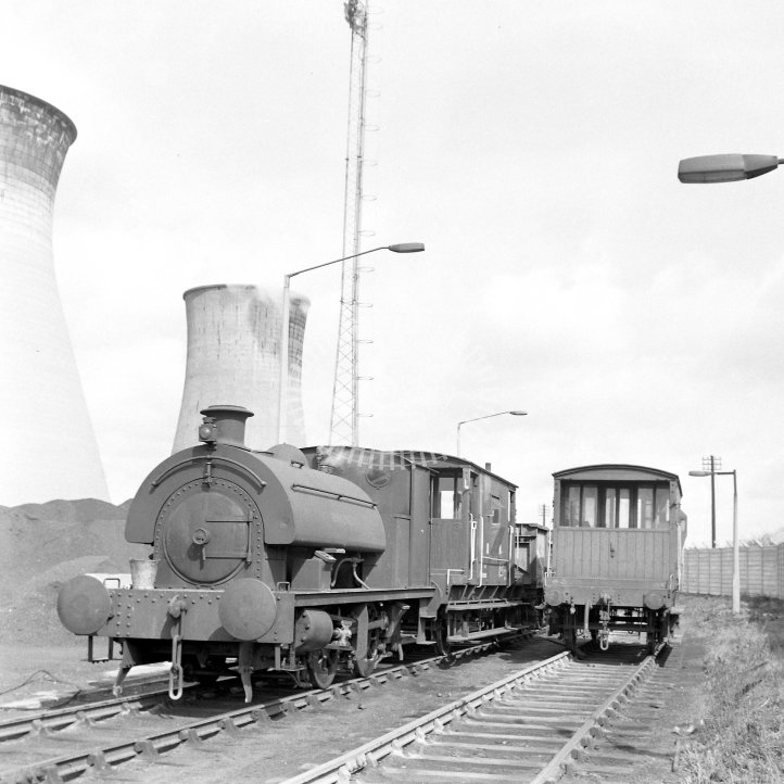 Central Electricity Generating Board Industrial Steam Locomotive  Class Robert Stephenson & Hawthorns 0-4-0ST (RSH 7386/1948)  at Acton Lane Power Station, Willesden  in 1969 -  12/04/1969 - Horace Gamble