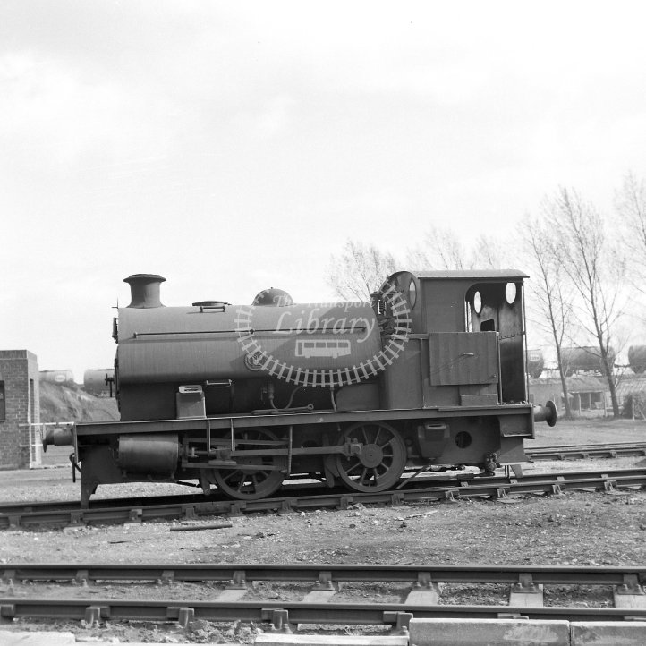 Central Electricity Generating Board Industrial Steam Locomotive  Class Robert Stephenson & Hawthorns 0-4-0ST (RSH7058/1942)  at Earley Power Station, Reading  in 1969 -  12/04/1969 - Horace Gamble
