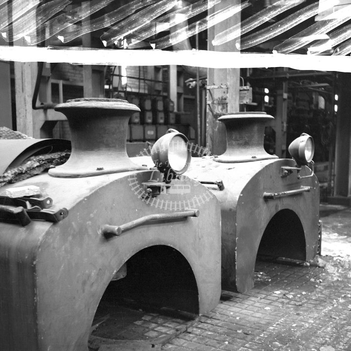 Central Electricity Generating Board Industrial Steam Locomotive    ED.9  Class Andrew Barclay 0-4-0ST (AB2352/1954) Andrew Barclay 9-4-0ST (AB2353/1954)  at Goldington Power Station, Beds  in 1968 -  24/03/1968 - Horace Gamble