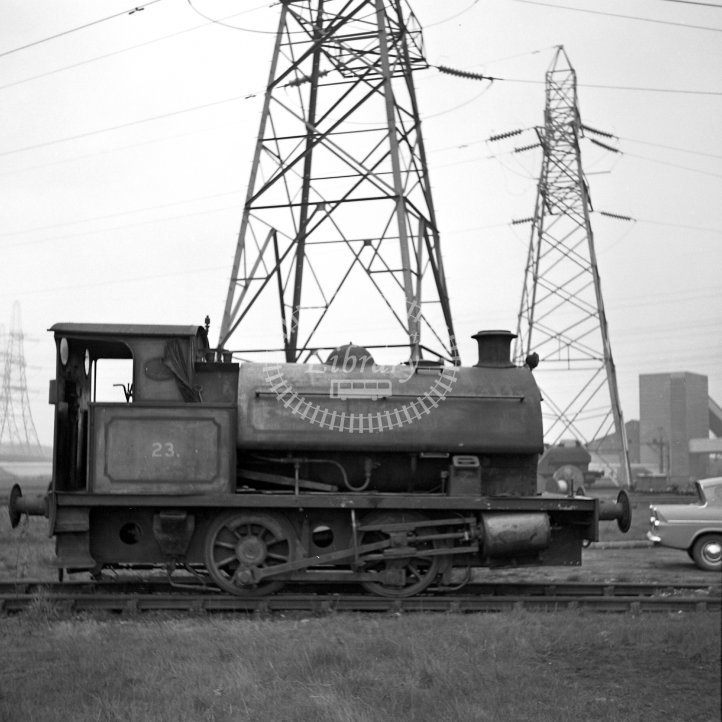 Central Electricity Generating Board Industrial Steam Locomotive 23  Class Robert Stephenson & Hawthorns 0-4-0ST (RSH7795/1954)  at Ferrybridge Power Station, Yorks  in 1968 -  16/04/1968 - Horace Gamble