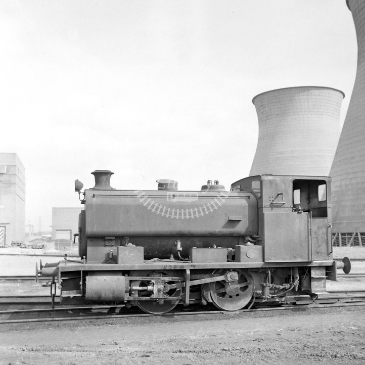 Central Electricity Generating Board Industrial Steam Locomotive  ED.10  Class Andrew Barclay 0-4-0ST (AB2354/1954)  at Goldington Power Station, Beds  in 1968 -  24/03/1968 - Horace Gamble
