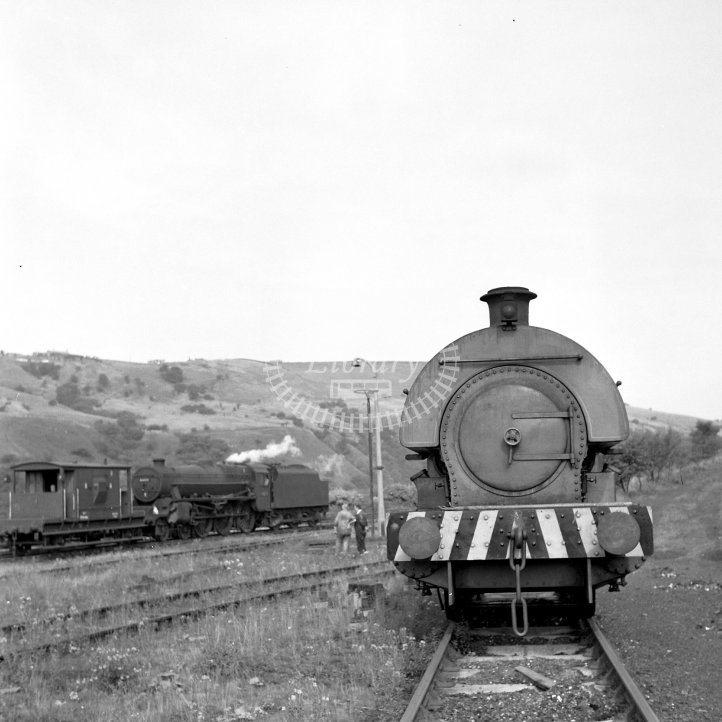 Central Electricity Generating Board Industrial Steam Locomotive 2  Class Robert Stephenson & Hawthorns 0-4-0ST (RSH7661/1950)  at Hartshead Power Station, Stalybridge  in 1967 - Exchange sidings -  26/08/1967 - Horace Gamble