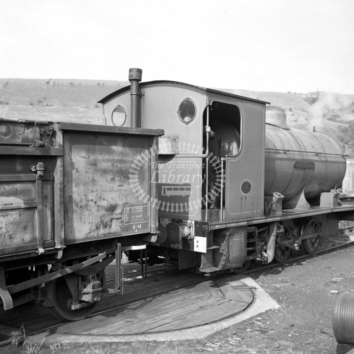 Central Electricity Generating Board Industrial Steam Locomotive  Class Hawthorn Leslie fireless 0-6-0 (HL3805/1932)  at Hartshead Power Station, Stalybridge  in 1967 -  26/08/1967 - Horace Gamble