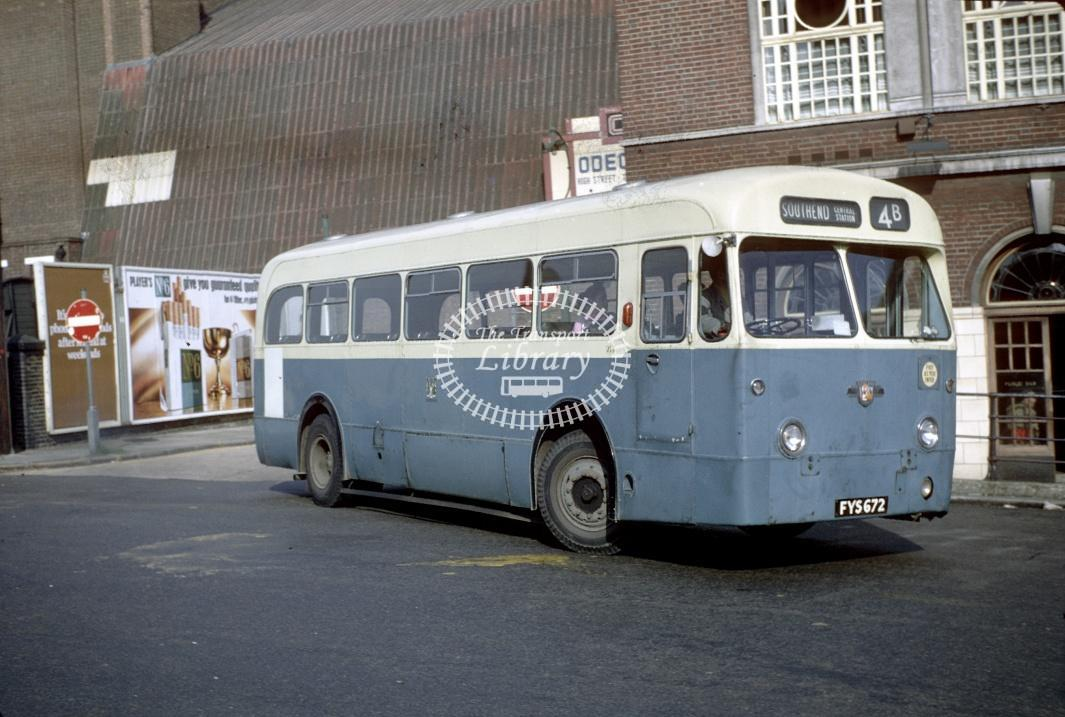 Southend Leyland RT3/1 214 FYS672 at Southend Central Stn in 1969 - Sep-69 - Harry Hay