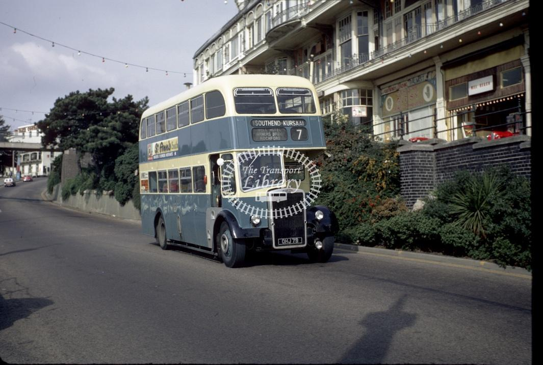 Southend Leyland PD2/40 309 OHJ79 at Southend Pier Hill in 1969 - Sep-69 - Harry Hay