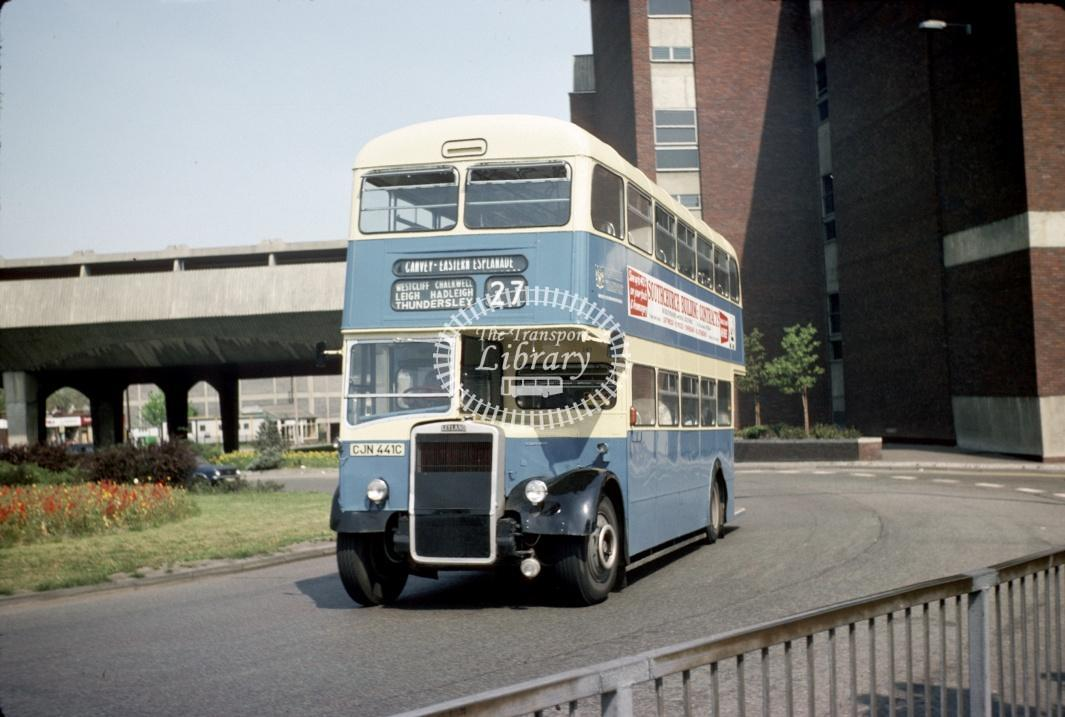 Southend Leyland PD3/6 341 CJN441C at Southend Victoria Circus in 1977 - May-77 - Harry Hay